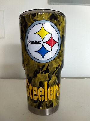 Custom Pittsburgh Steelers Hydro Dipped Cup 30 Oz Stainless Steel Tumbler Ebay