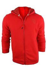 New Puma Ferrari Fleece Track Sweat Jacket Red Rosso Corsa XL