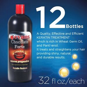 Evans Brazilian Keratin Treatment Chocolate 1 Box 12 Bottles 32 Fl Oz Ebay