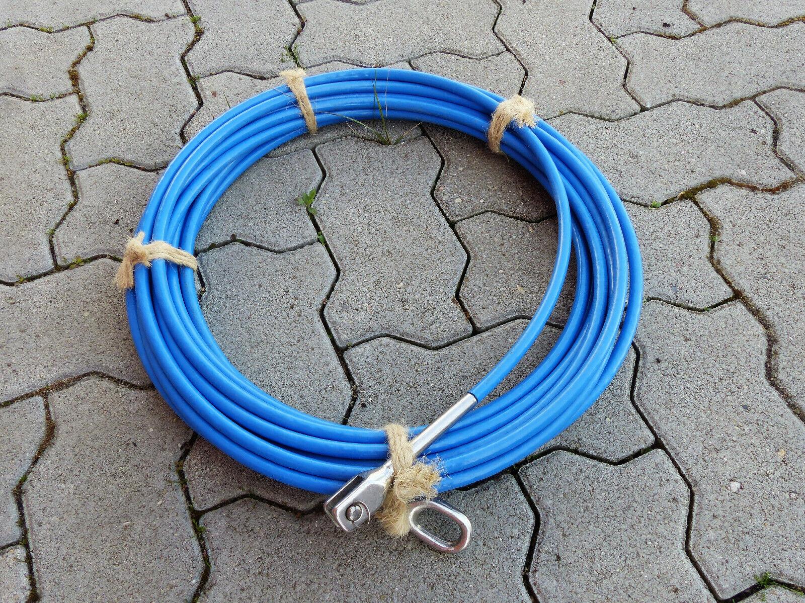 Handlauf   Edelstahl-Seil  mit Kunststoffmantel, ca 15m lang, Durchmesser 8 mm