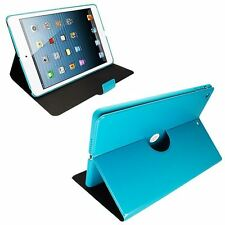 TORQUOISE APPLE iPad AIR iPad-5 SLIM THIN STAND PU LEATHER CASE COVER