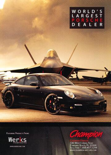 2008 Porsche 911 Classic Vintage Advertisement Ad PE100 Champion dealer