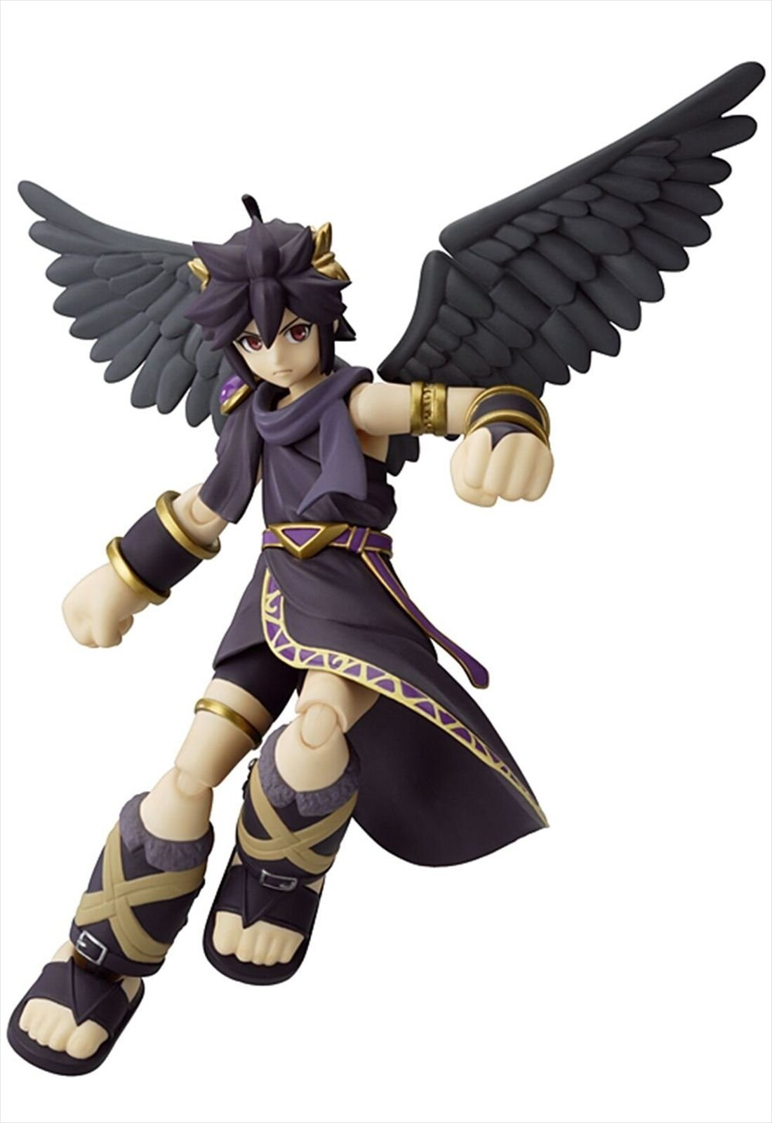 Good Smile Figma Kid Icarus Uprising Dark Pit figurine avec 3 DS AR Carte