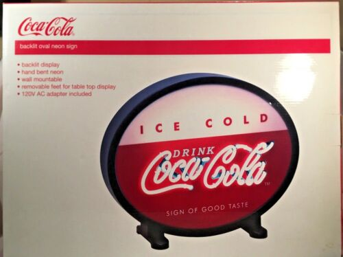 "18"" Coca Cola Backlit Neon Oval Sign"