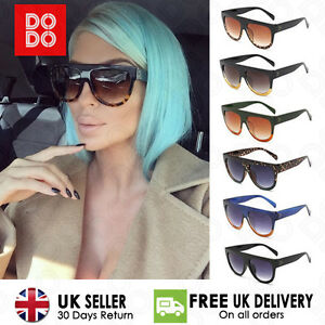 flat top designer sunglasses  Shadow Shield Flat Top Oversized Women Ladies Men Fashion Designer ...