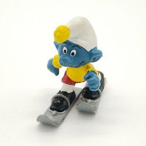1978-Smurfs-Skier-Super-Smurf-Figure-Toy-Skiing-Figurine-40205-vintage