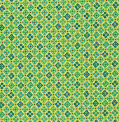 Denyse Schmidt Flea Market Fancy Eyelet Fabric in Green PWDS023 100/% Cotton