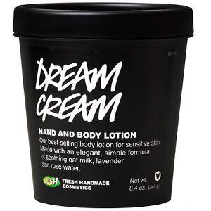 Lush-Dream-Cream-Hand-amp-Body-Lotion-240g-8-4oz-Suitable-for-sensitive-skin-NEW
