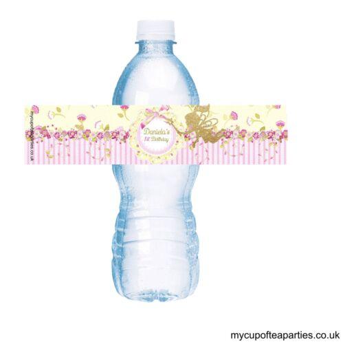 12x Girls Fairy Princess Birthday Fruit Shoot Bottle Label Party Decor Favour