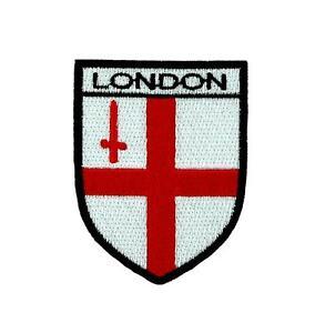 Flag patch iron / sew badge backpack london uk england