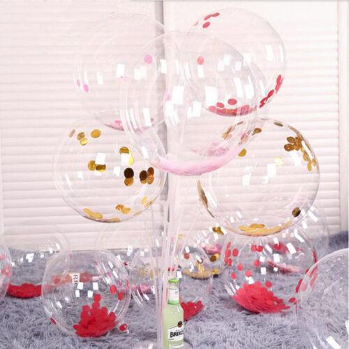 10 PCS PVC Transparent Balloon Bobo Balloons Wedding Birthday Party Decoration