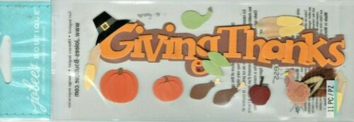 Jolee/'s THANKSGIVING themed embellishment stickers~BNIP~CUTE Quick Ship!