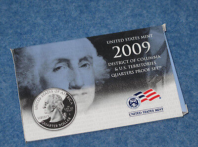 2009-S US Mint Proof Territory Quarter 6-coin with box//COA