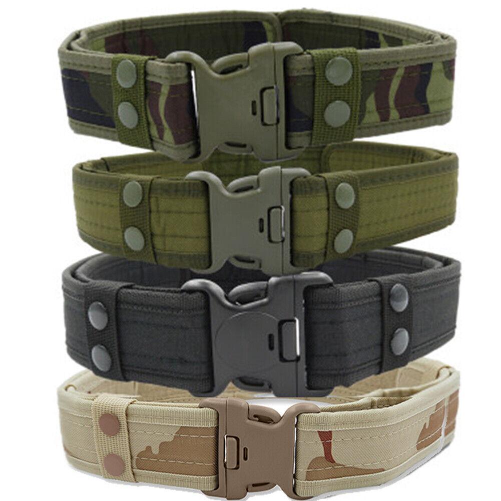 Draussen Army Belt Quick Release bis 135cm, Armee Hosengürtel Koppel Armeegürtel