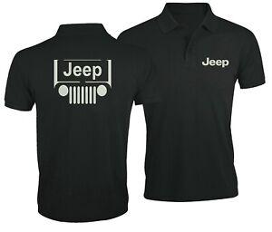 Jeep-Logo-Auto-Ventilateur-Sport-Fan-Club-Voiture-Brode-Homme-Chemise-polo