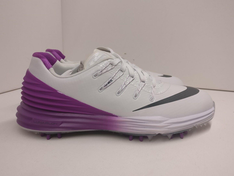 Nike Damenschuhe Lunar Control 4 Golf Schuhe UK 3.5 WEISS Anthracite Purple 819034100