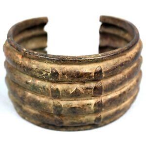Art-Africain-Ethnique-Bracelet-en-Bronze-Akan-Objet-Usuel-Bijoux-Ancien