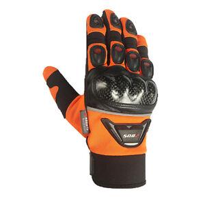 Guantes-de-motorista-motocicleta-handschuhe-gr-m-xl-motorrad-Naranja-gr-xl
