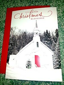 Dayspring Christmas Cards.Details About 16 Hallmark Dayspring Religious Christmas Cards Snowy Chapel Boxed Set Scripture