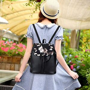 Women-039-s-Casual-Backpack-Rucksack-Faux-Leather-Travel-Shoulder-School-bag-Handbag