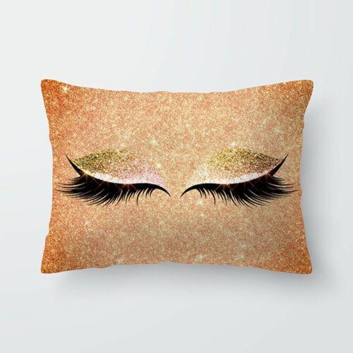 Eyelash Pillow Case Peach Skin Sofa Waist Throw Cushion Cover Home Car Decor New