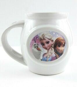 Disney Frozen Mug Cup Anna Elsa Olaf Tea Coffee Cocoa Spoon Slot White