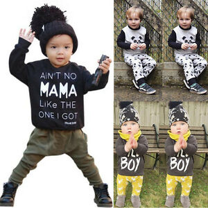 Outfits & Sets Clothes, Shoes & Accessories 2PCS/Set Baby Boys Girl Kids Shirt Tops+Long Pants Sweatshirt Clothes Outfits AB