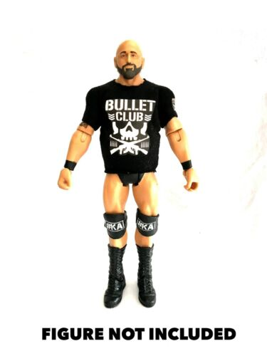 Anderson FORCA Stili WWE njpw Bullet Club Personalizzata Camicia per Mattel figure..