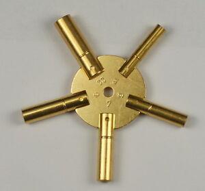 CLOCK SPIDER KEYS BRASS WINDING KEYS 3-11 ODDS key winders old clocks key wind