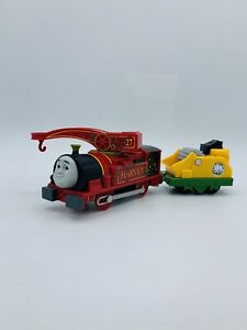 Thomas & Friends Motorized Train Trackmaster Helpful HARVEY Coal Crush Car 2013
