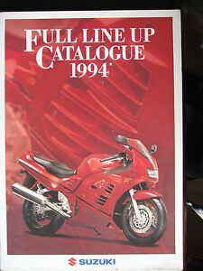 BROCHURE-CATALOGUE-POSTER-1994-MOTO-GAMME-SUZUKI-PROSPECTUS