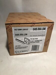 Baldwin Half Dummy Lever Set Left Hand  5485.056.LDM - PVD Satin Nickel Metal