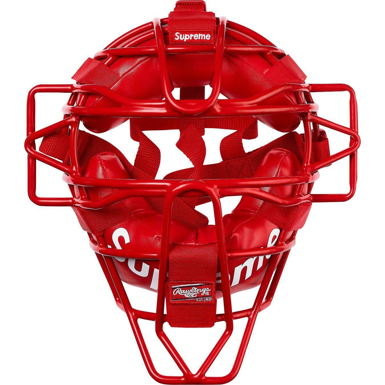 Supreme SS18 Rawlings catcher's Mask Rojo Nuevo