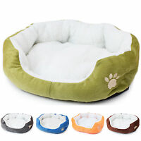 1x Puppy Pet Dog Cat Fleece Cozy Warm Bed Flannel Soft Cotten House Nest Mat Pad