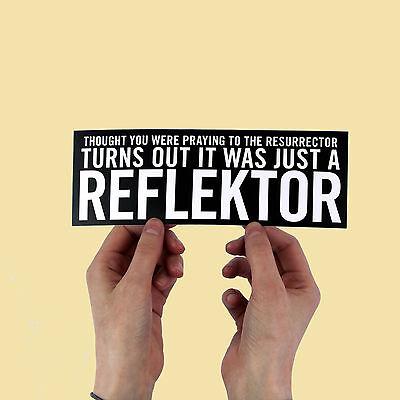 "Arcade Fire Lyric Sticker! ""Reflektor"", funeral, neon bible, the suburbs,"