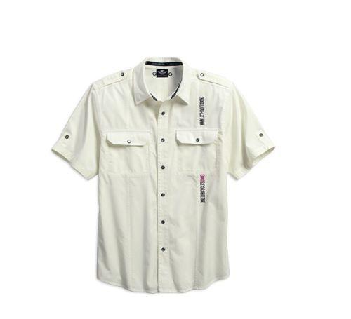 Harley-Davidson Men's Textured Stripe Shirt 96173-16VM MEDIUM
