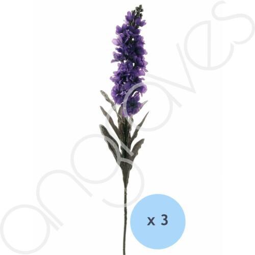 78cm Set of 3 Purple Summer Spire Artificial Silk Flowers Home Decoration