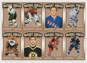 2006-07-Opeechee-Marquee-Rookies-Lot-Backstrom-Brown-Eriksson-Bourdon-etc