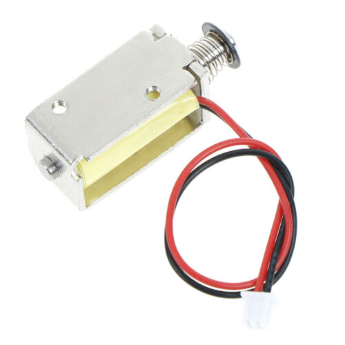 12V DC suction micro electromagnet spring push pull type rod solenoid magnet  Pn
