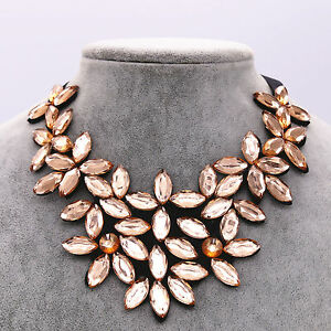 bib statement necklace silver antique wholesale leaf chunky
