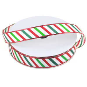 Candy-Striped-Polyester-Christmas-Ribbon-5-8-Inch-25-Yard