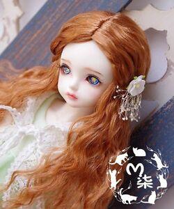 1 4 7-8 Dal BJD SD MSD Wig MDD DOD LUTS AOD Dollfie Doll Toy orange Short wigs