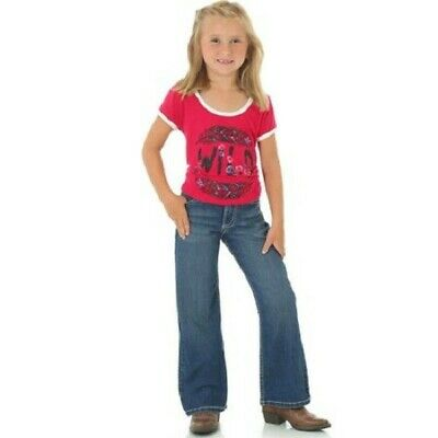 Wrangler Girls Girls Premium Patch Boot Cut Jeans