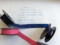 Smith Corona Portable Typewriter Ribbon Blue And Pink Combo Pack - Made In Usa