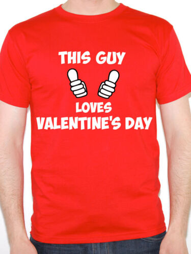 Love Novelty Themed Men/'s T-Shirt THIS GUY LOVES VALENTINE/'S DAY Cupid
