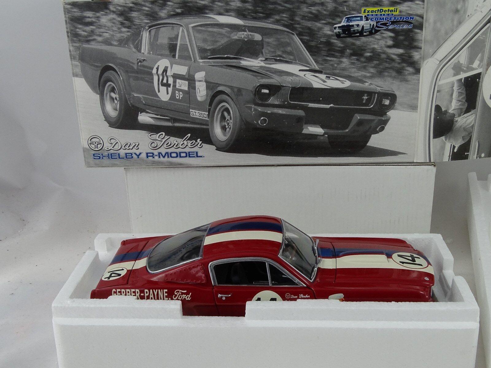 1:18 Esatto Dettaglio - 1966 Shelby G.T.350 Dan Gerber  14 Lmtd.1of 2250