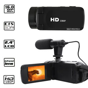 HD 1080p Digital Video Kamera Camcorder YouTube vlogging Recorder mit Mikrofon