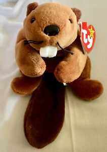 1995 Bucky Ty Beanie Baby Mint Condition PVC Pellets