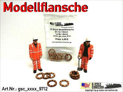Spur 1-10 Stück Modellflansche für Rohre//Ladegut Flansch Lasercut 20//30mm