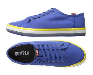 Detalles de Zapatillas Camper para Hombre Camper Andratx Azul Entrenador Zapatos Zapatillas De Lona Nuevo ver título original